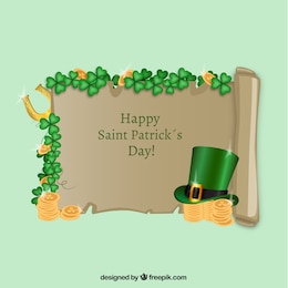 St patricks day parchment with hat