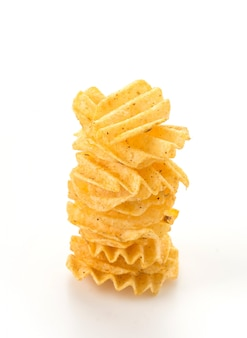 Stack chip golden calories delicious