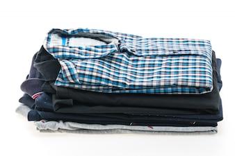 Stack of men shirt