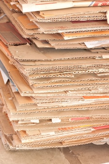 Stack of used paper for recycle