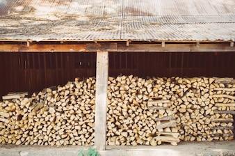Stacking firewood