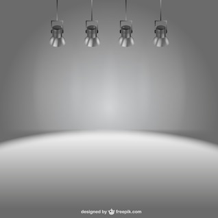 Stage lights vector background