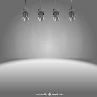Stage lights vector background