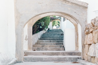 Stairs in the village