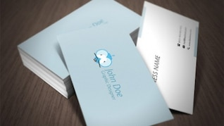 Standard size business cards with crazy character
