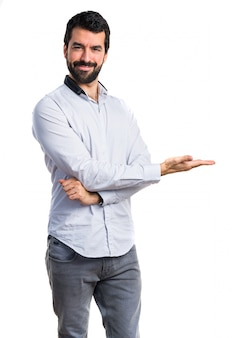 Standing adult guy person latin