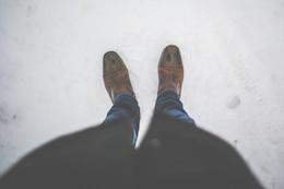 Standing on snow