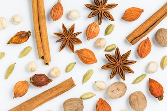 Star anise with other seeds