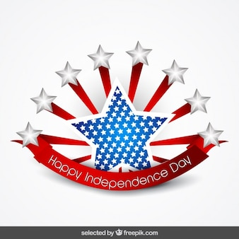 Star badge of independence day