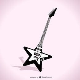 Star guitar vector