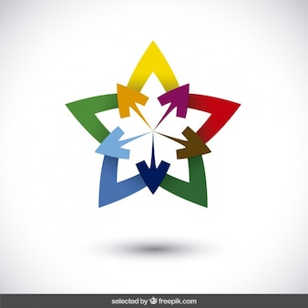 Star logo with arrows