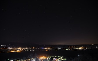 Starry night above the city