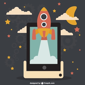 Start up rocket or business launch