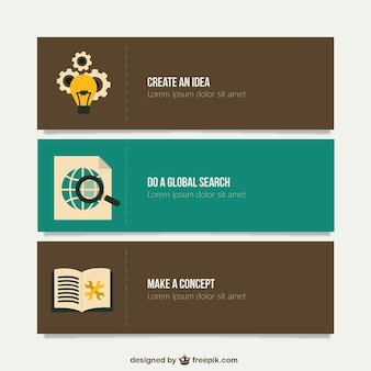 Startup banners