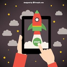 Startup rocket idea