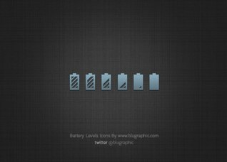 State of Battery Levels Icons