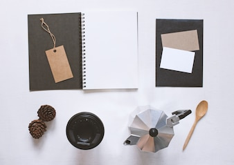 Stationery and business branding mock up set, modern style