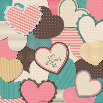 Stationery Valentine hearts card