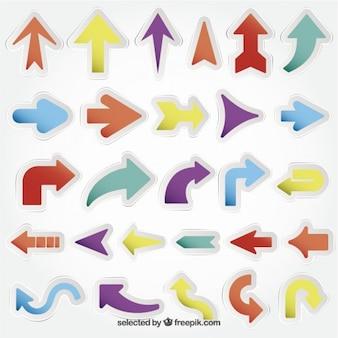 Stickers in arrows shape