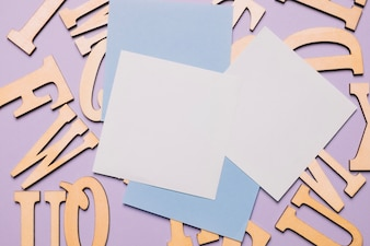 Sticky notes and letters