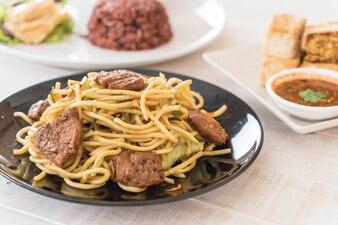 Stir-fried noodle - vegan food