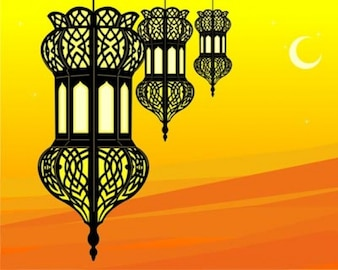 Stock Illustration of stylish ramadan lantern