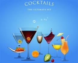 Stock Illustrations: Cocktails Ultimate Set-vector