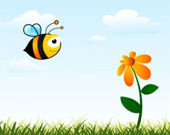 Stock Ilustrations Bee Vector