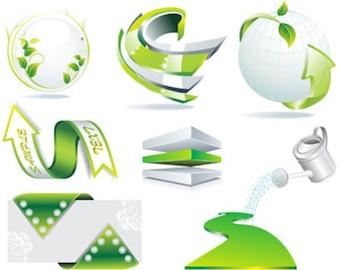 Stock Ilustrations Green Symbols Vectors