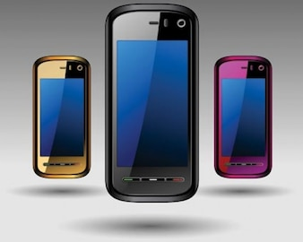 Stock Ilustrations Mobile Phones Vector