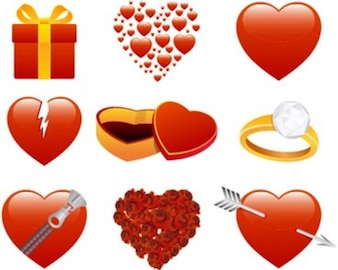 Stock Ilustrations Valentines Hearts Vector