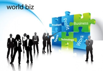 Stock Ilustrations World Business Vector