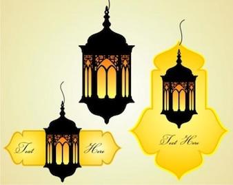 Stock Islamic celebration danglers vector