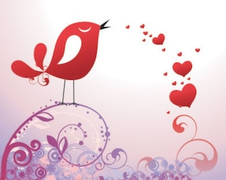 Stock Postal to the day of Valentine- Vector