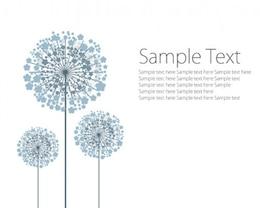 Stock vector dandelion circles