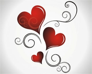 Stock Vector Heart Valentines Day background
