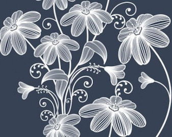 Stock Vector Illustration: Seamless floral background