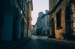 Stone road street