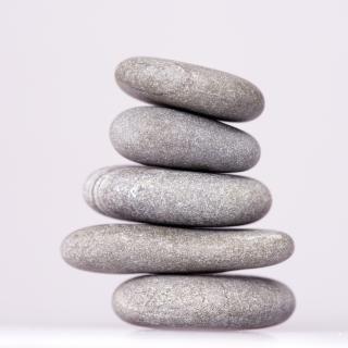 Stone tower  meditating