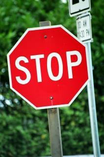 Stop sign, warning, traffic