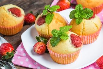 Strawberries muffin