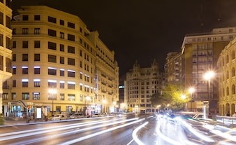 Street in night. Valencia, Spain