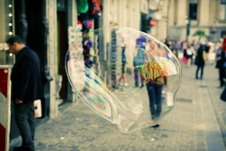 Street soap bubble