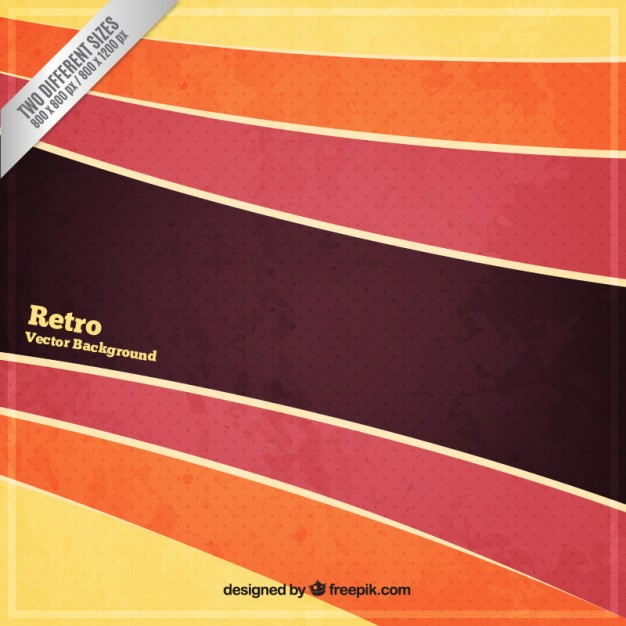 Striped background in retro style