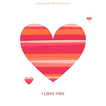 Striped heart
