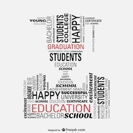 Student graduation vector concept illustration