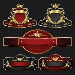 stylish banner set logo vector