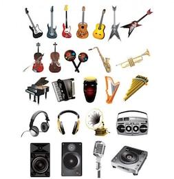 stylish music instrumental icon vector
