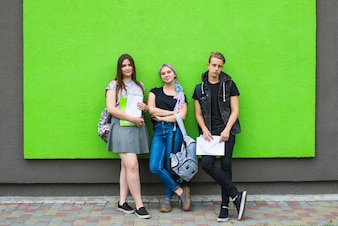 Stylish youngsters in university