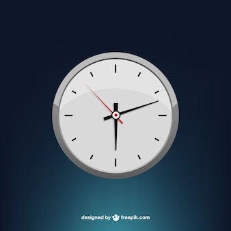 Stylized minimal clock face vector